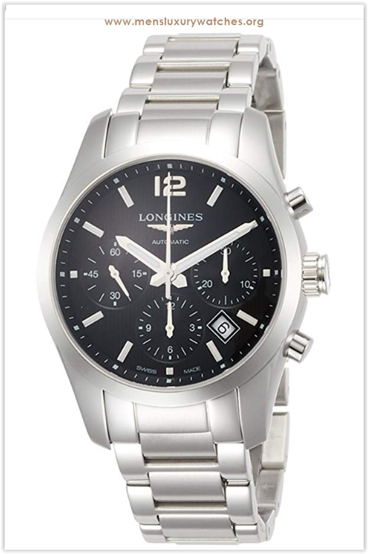 Longines Conquest Classic Automatic Black Dial Stainless Steel Men's Watch the best price