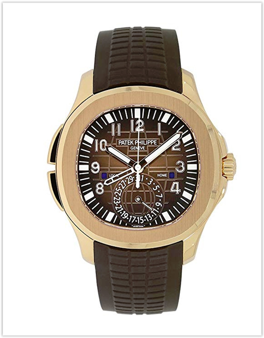 Patek Philippe Aquanaut Travel Time Rose Gold Chocolate Men's Watch best price