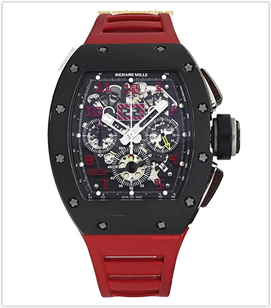 Richard Mille RM 011 RED Automatic-self-Wind Male Watch RM011
