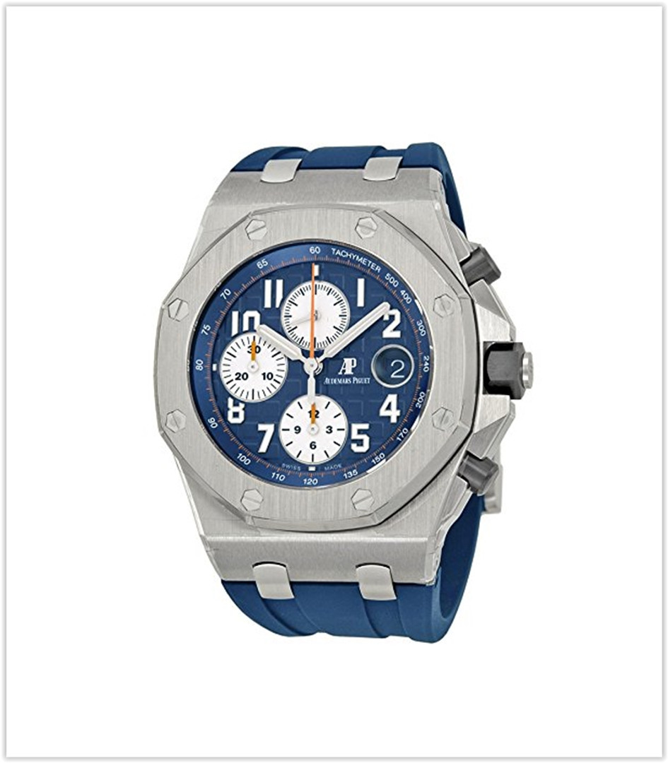 Audemars Piguet Royal Oak Offshore Blue Dial Chronograph Men's Watch