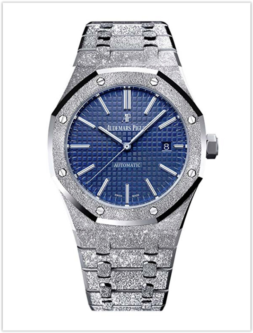 Audemars Piguet Royal Oak 41 Frosted White Gold Blue Dial Limited Edition of 200 Men's Watch price