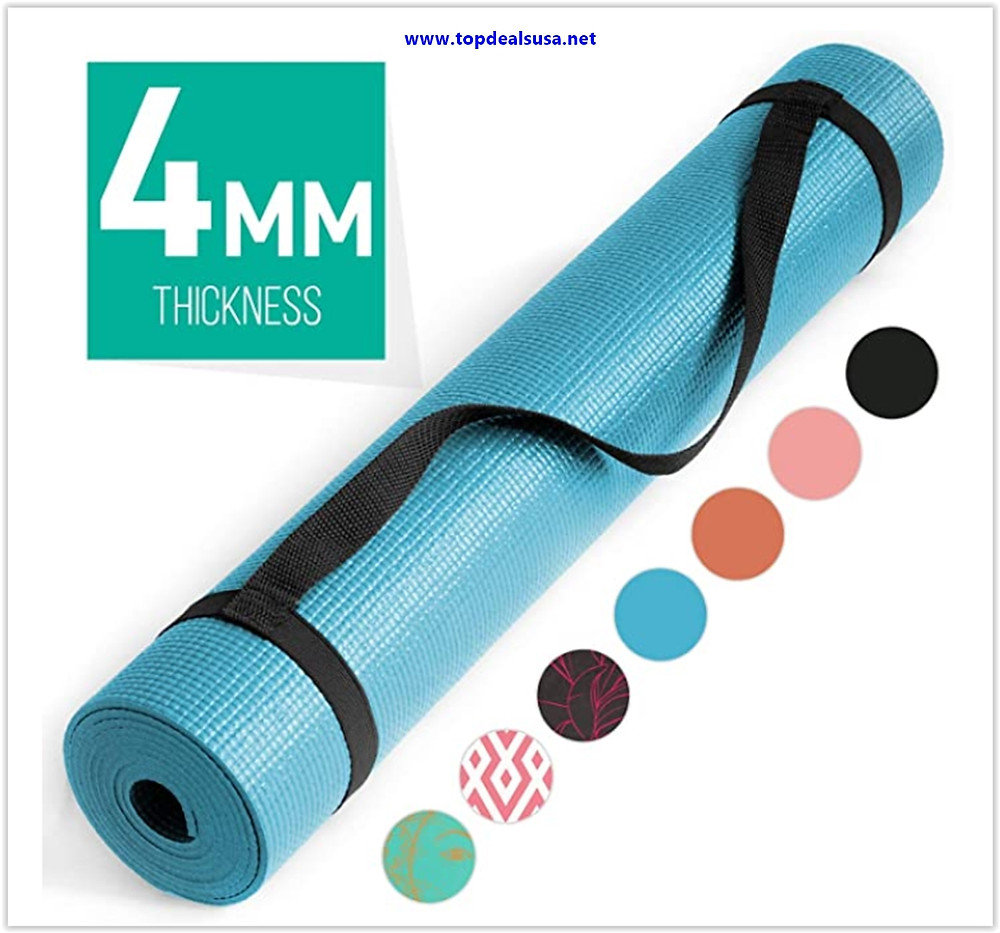 Best buy Nicole Miller Yoga Workout Mat, Thick Yoga Exercise Mat for Home Gym with Carrying Strap