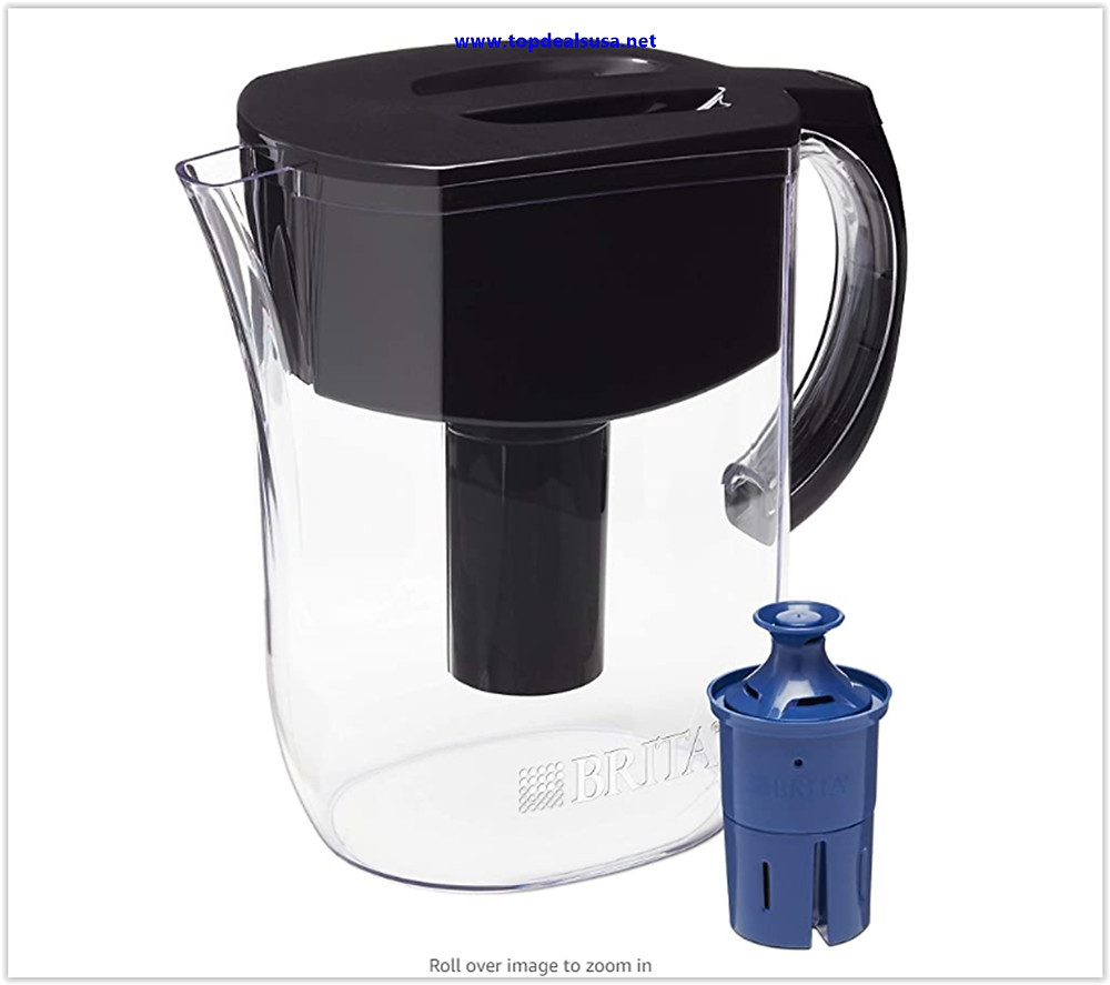 Best Buy Brita Everyday Pitcher with 1 Longlast Filter, Large 10 Cup, Black