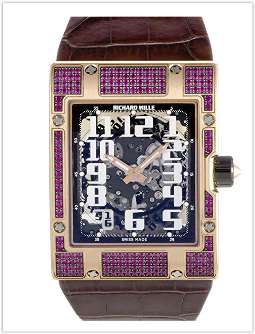 Richard Mille RM 016 Rose Gold Ruby Set Men's Watch Price