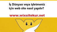 İş Dünyası veya işletmeniz için web site nasıl yapılır?