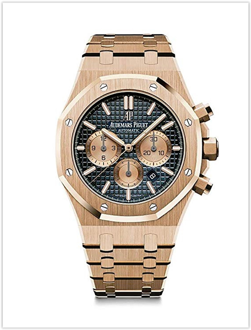 Audemars Piguet AP Royal Oak Chronograph Novelty 41 Rose Gold Blue Dial Men's Watch price