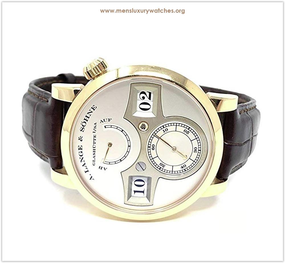 A. Lange & Sohne Zeitwerk Silver Dial 18KT Rose Gold Men's Watch price