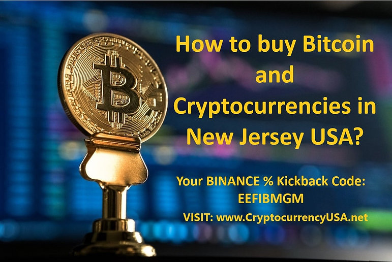 How to buy Bitcoin and Cryptocurrencies in New Jersey, USA?