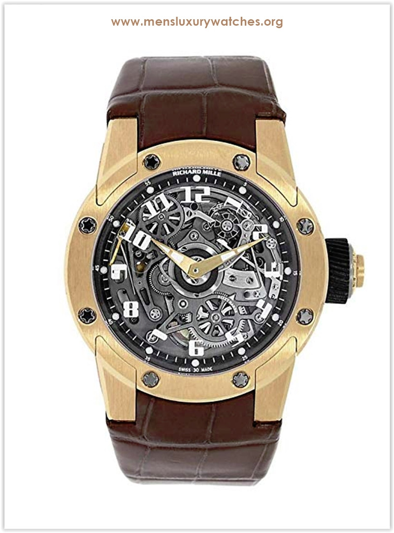 Richard Mille Dizzy Hands Rose Gold Men's Watch RM 63-01 the best price