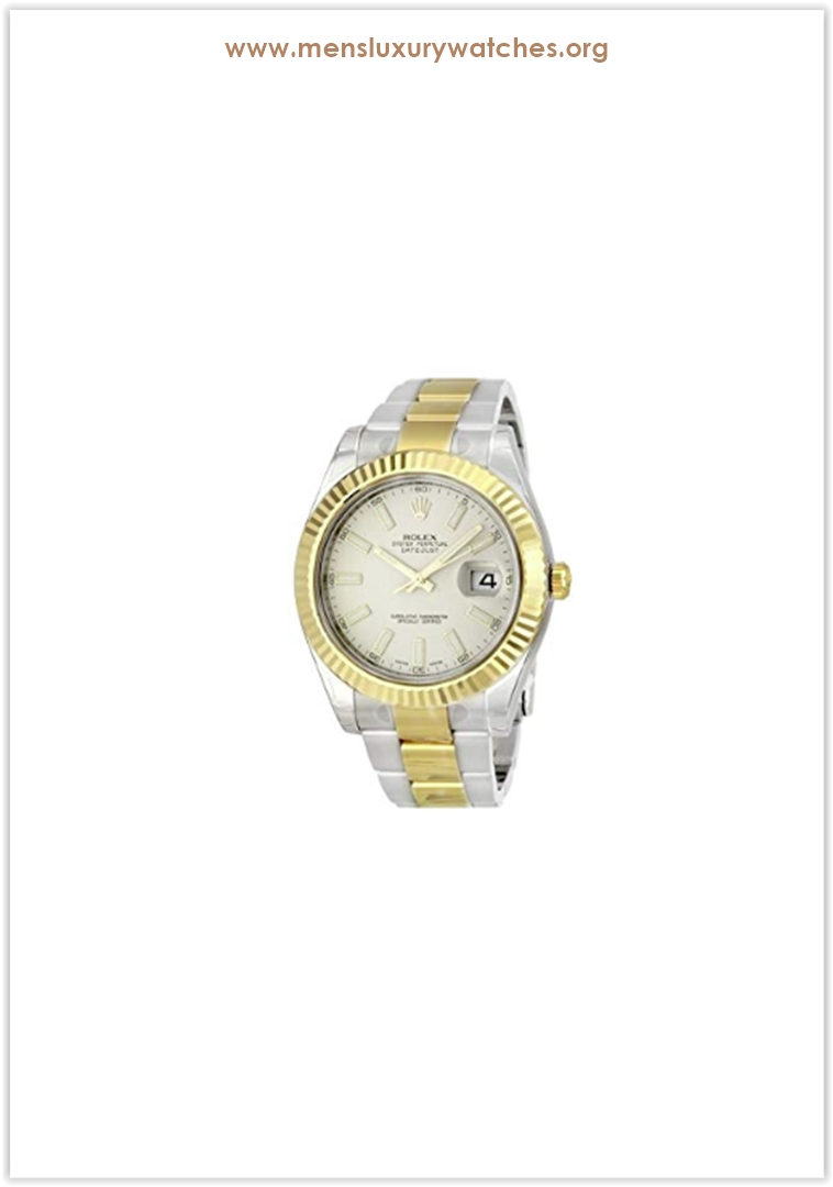 Rolex Datejust II Ivory Index Dial 18k Y