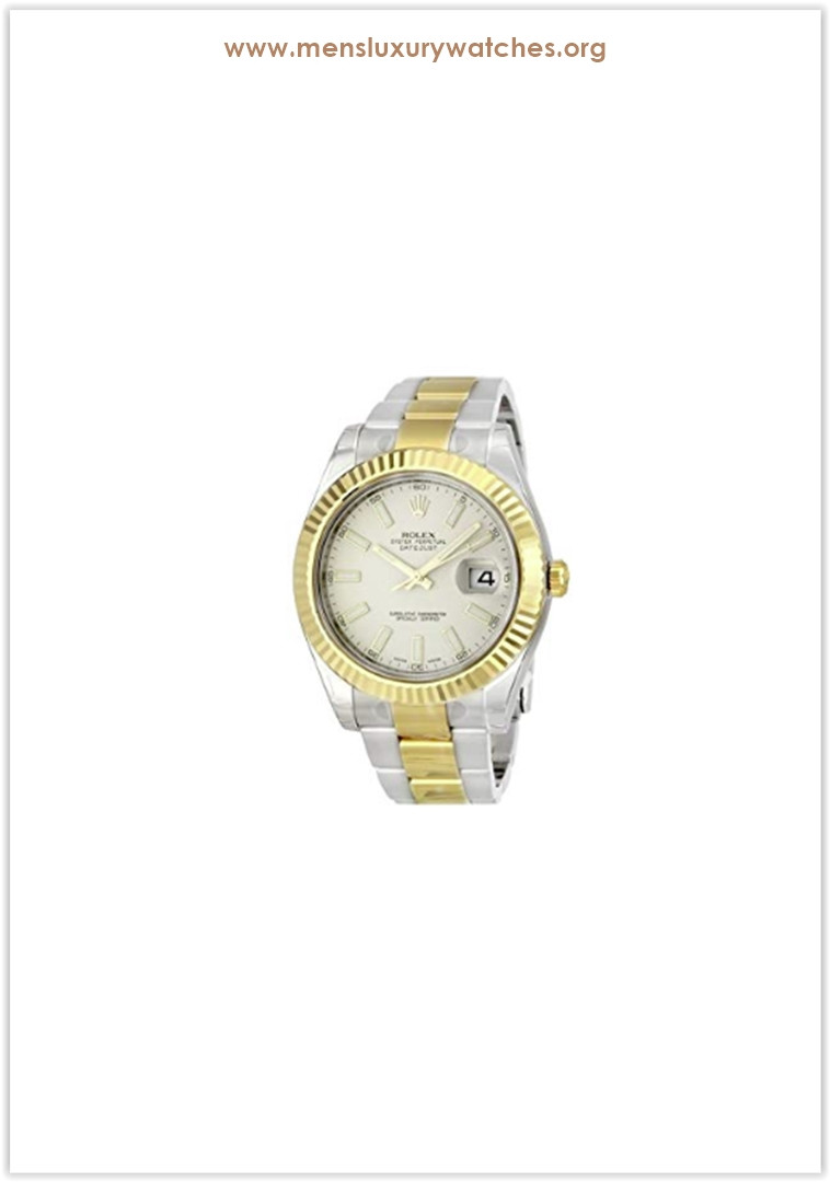 Rolex Datejust II Ivory Index Dial 18k Yellow Gold Bezel Oyster Bracelet Men's Watch Price