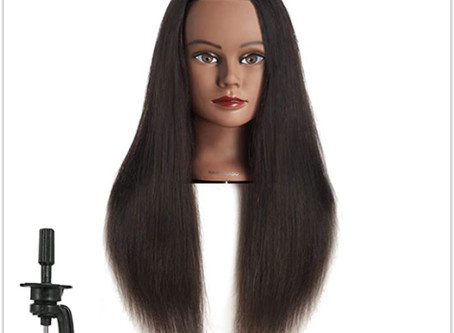 Mannequin Head Hairdresser Training Head Manikin Cosmetology Doll Review
