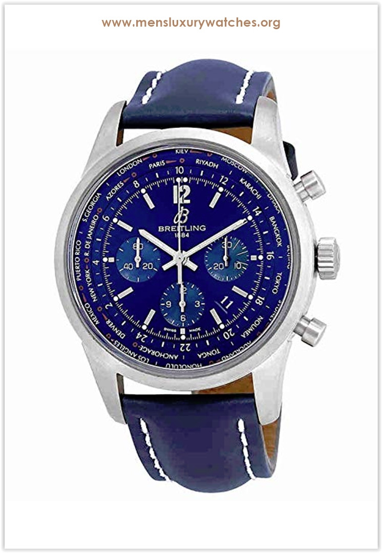 Breitling Transocean Automatic Chronograph Blue Dial Men's Watch Price
