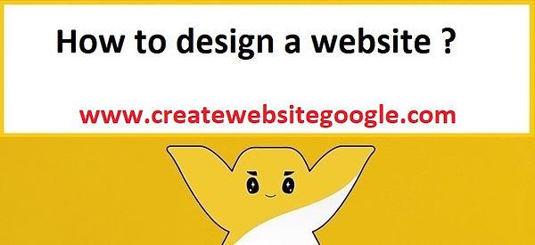 How to design a website