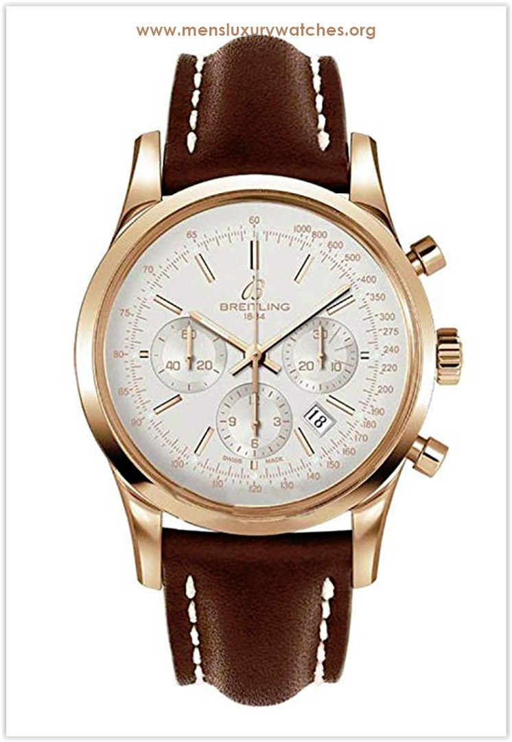 Breitling Transocean 18k Gold & Croc Chronograph Men's Watch Price