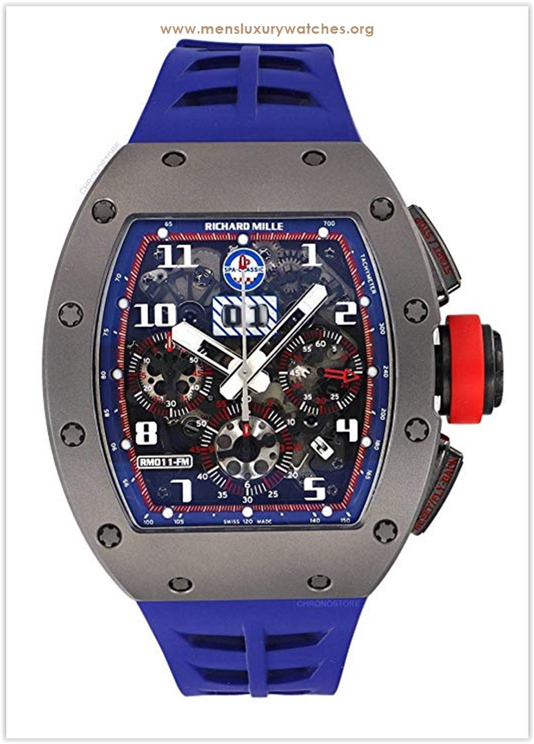 Richard Mille RM 011 Spa Limited Edition Titanium Blue Rubber Automatic Watch