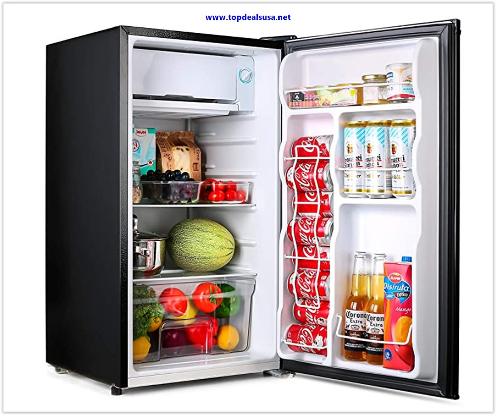TACKLIFE Mini Fridge with Freezer