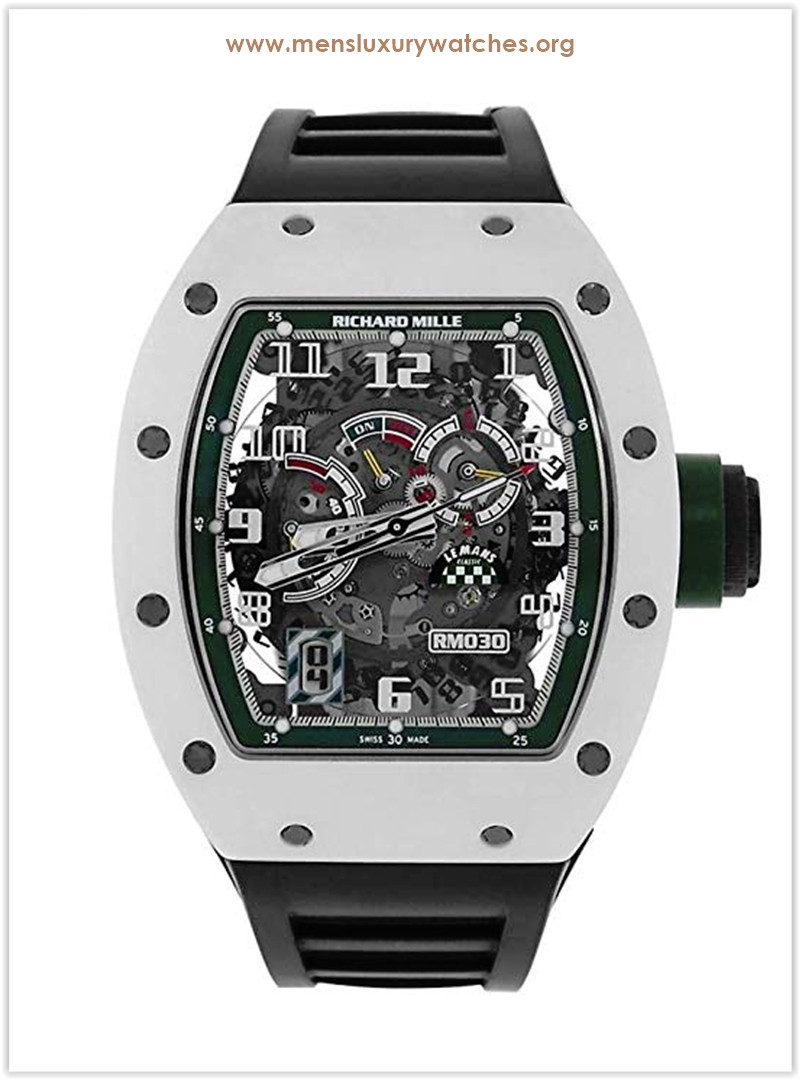 Richard Mille RM030 Le Mans Classic Limited Edition White Ceramic Men's Watch the best price