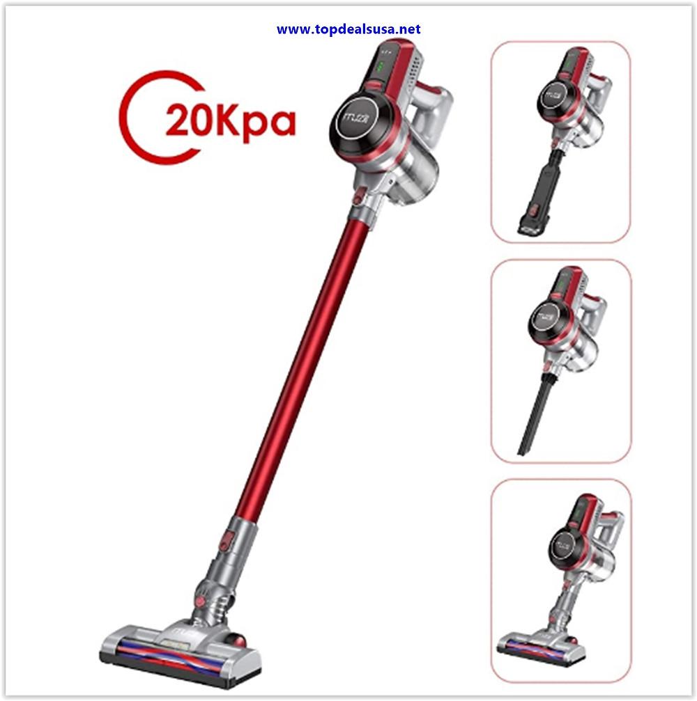 Best Buy Muzili Cordless Stick Vacuum, 20Kpa Wireless Vacuum Cleaner Sweeper for Hardwood Floor Carpet Pet Hair, LED Motorized Brush, HEPA Filteration, 4 in 1 Home Portable Lightweight Vacuum