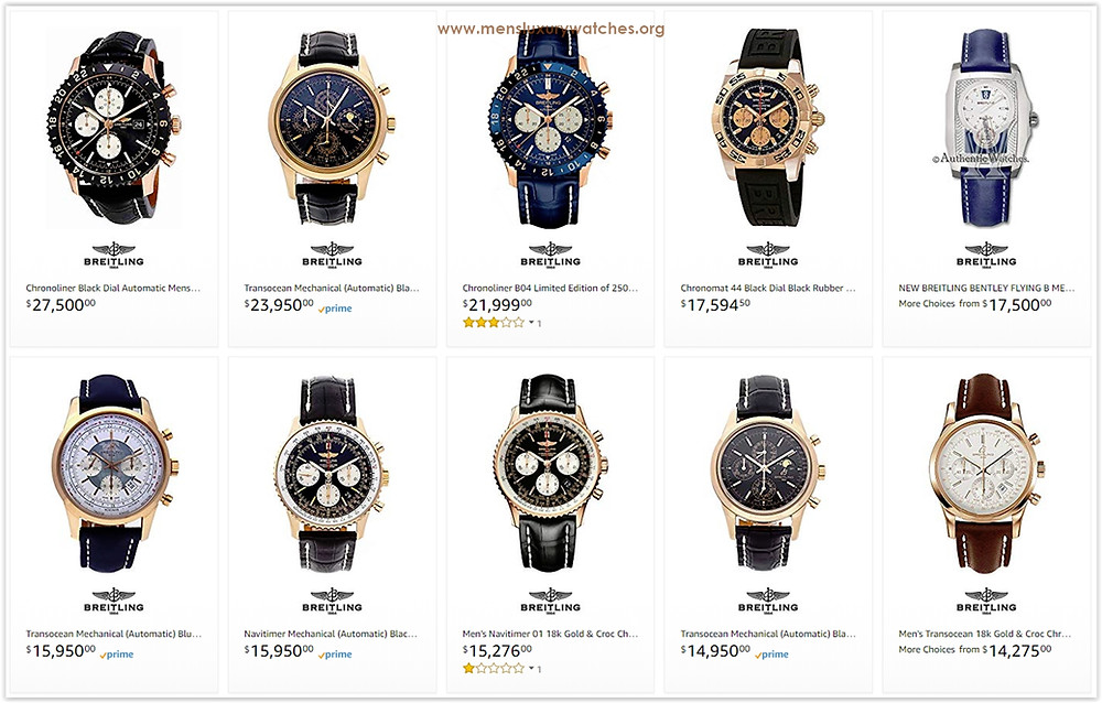 Breitling Men's Watches price list