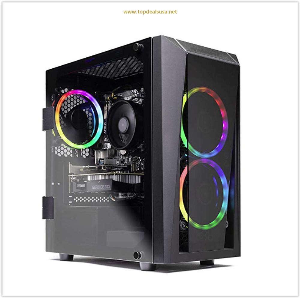 SkyTech Blaze II Gaming Computer PC Desktop – Ryzen 5 2600 6-Core 3.4 GHz, NVIDIA GeForce GTX 1660 6G, 500G SSD, 8GB DDR4, RGB, AC WiFi, Windows 10 Home 64-bit