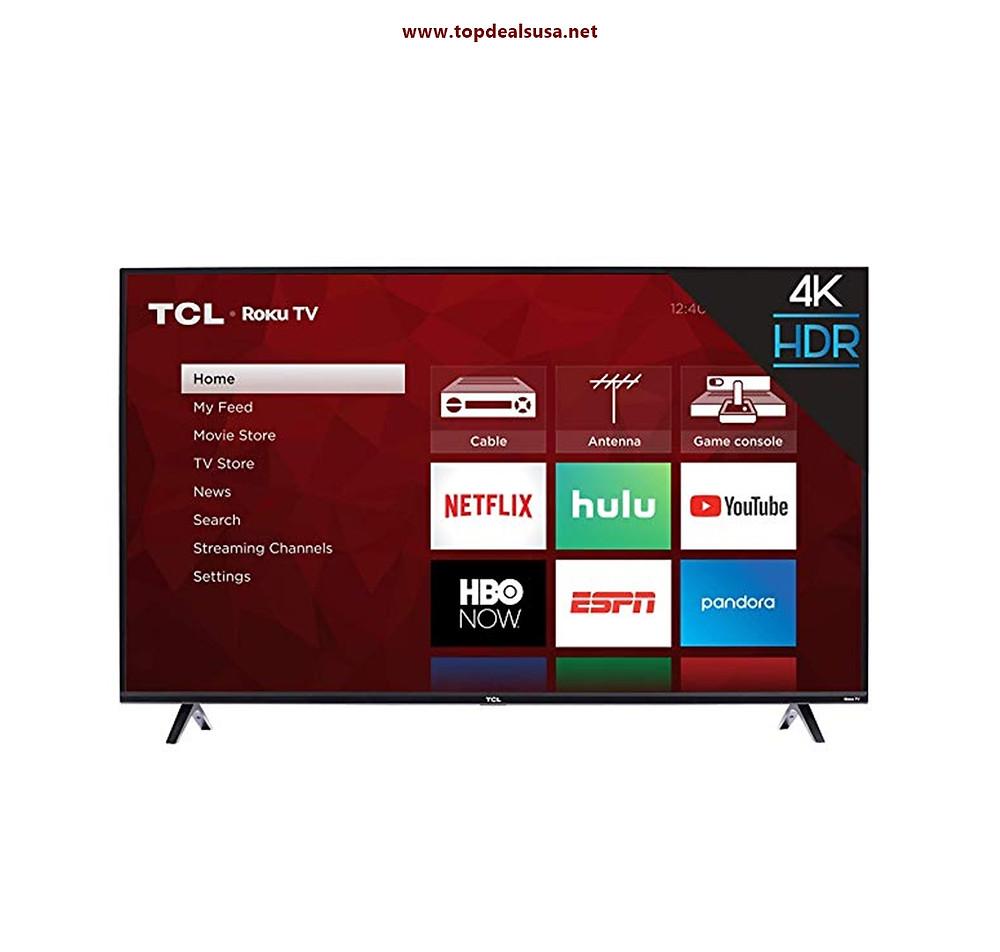 TCL 43S425 43 Inch 4K Ultra HD Smart Roku LED TV Deals