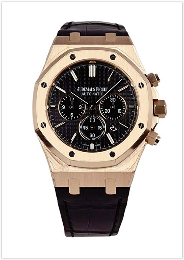 Audemars Piguet Royal Oak Chronograph Rose Gold Black Dial Men's Watch Price