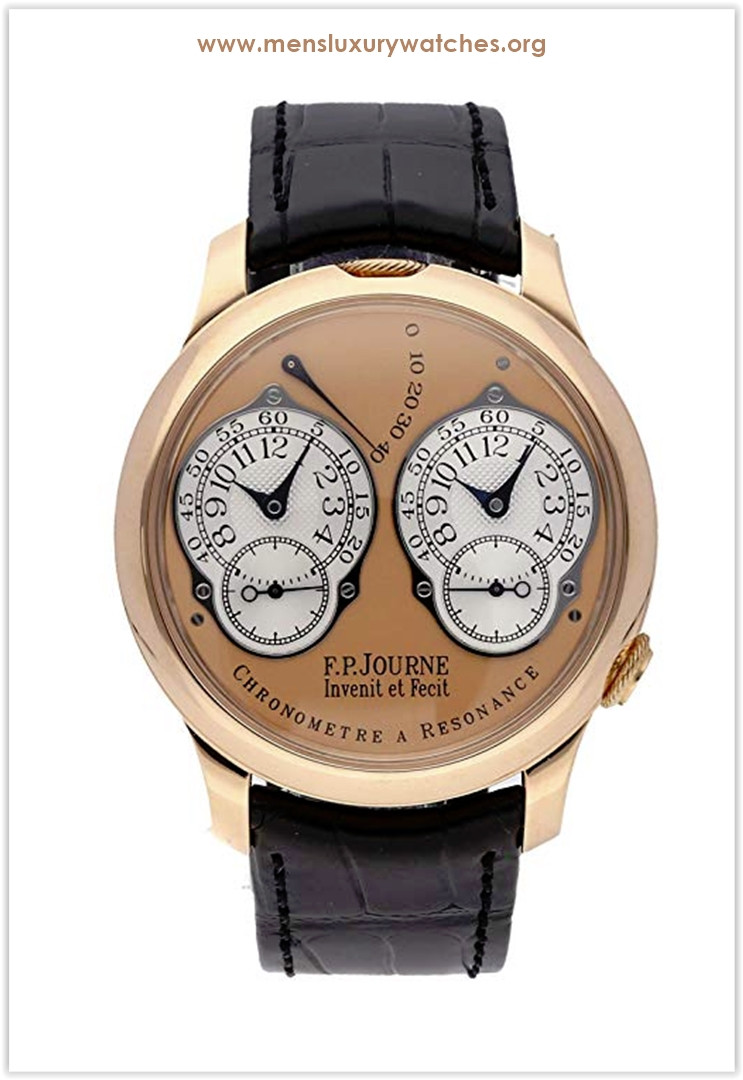 F.P. Journe Souverain Mechanical (Hand-Winding) Rose Dial Men's Watch Resonance Souverain Price