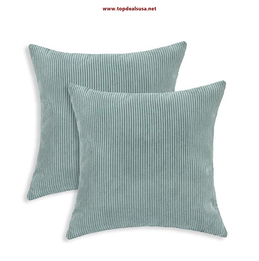 CaliTime Pack of 2 Cozy Throw Pillow Cov