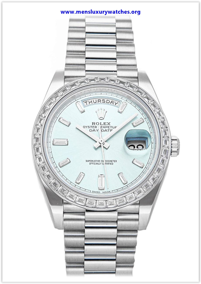 Best buy Rolex Day-Date Mechanical (Automatic) Ice Blue Dial Men's Watch 228396TBR