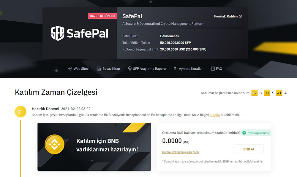 Safepal Binance Launchpad'de İşte detaylar