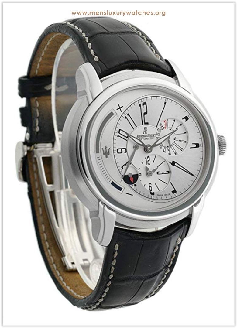 Audemars Piguet Millenary with stainless-steel bezel and silver dial Men's Watch the best price