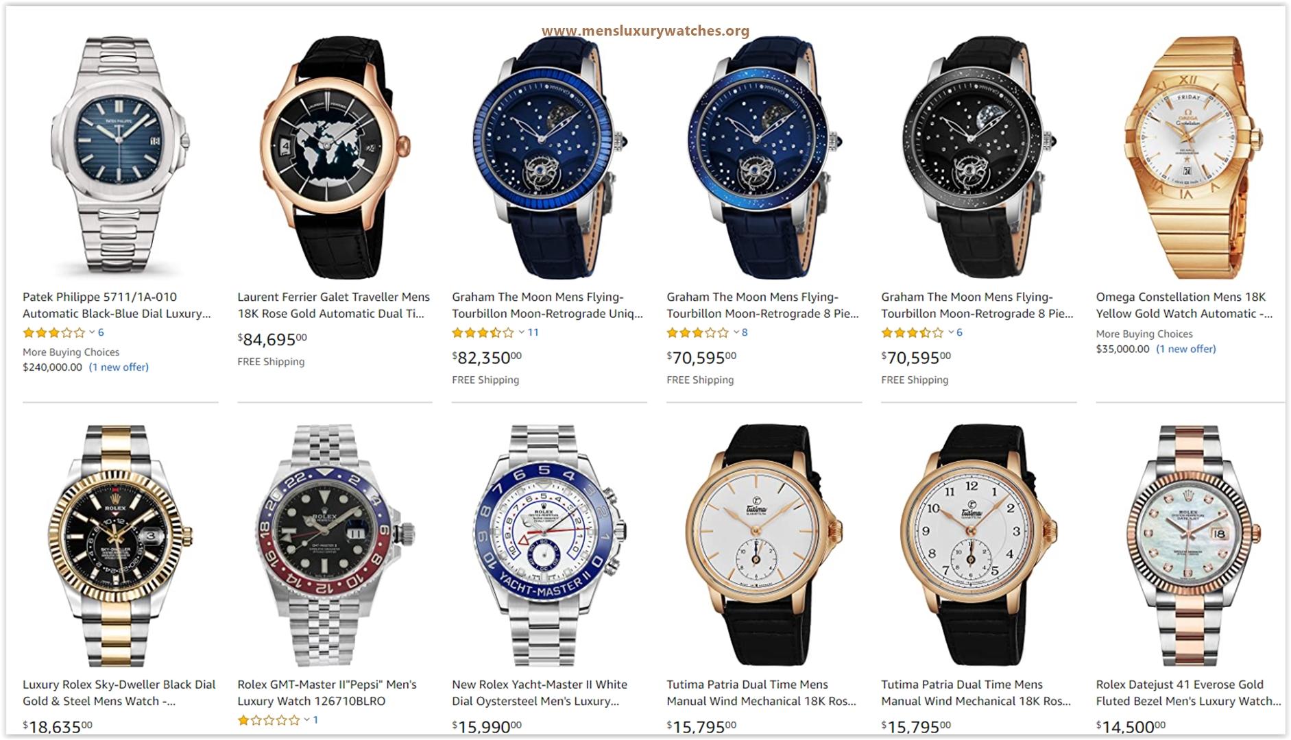Top 10 Luxury Men's Watches to buy 2020