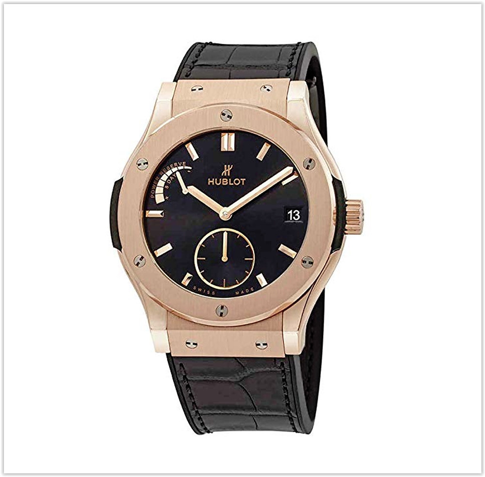 Hublot 18ct Rose Gold Classic Fusion Power Reserve Mens Watch buy online