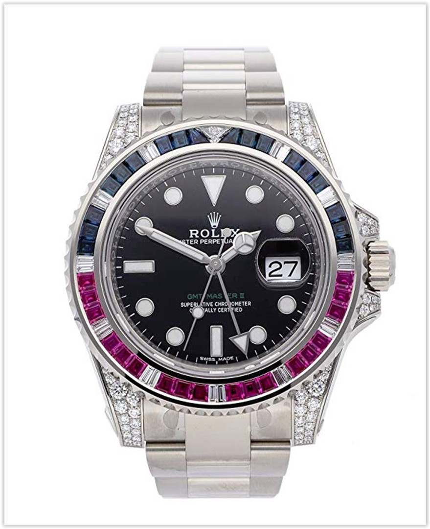Rolex GMT Master II Mechanical (Automatic) Black Dial Men's Watch best price