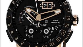 Ulysse Nardin El Toro Men's Watch Black Leather Strap Automatic Perpetual Calendar Rose Gold