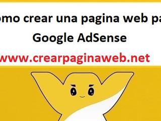 Como crear una pagina web para Google AdSense