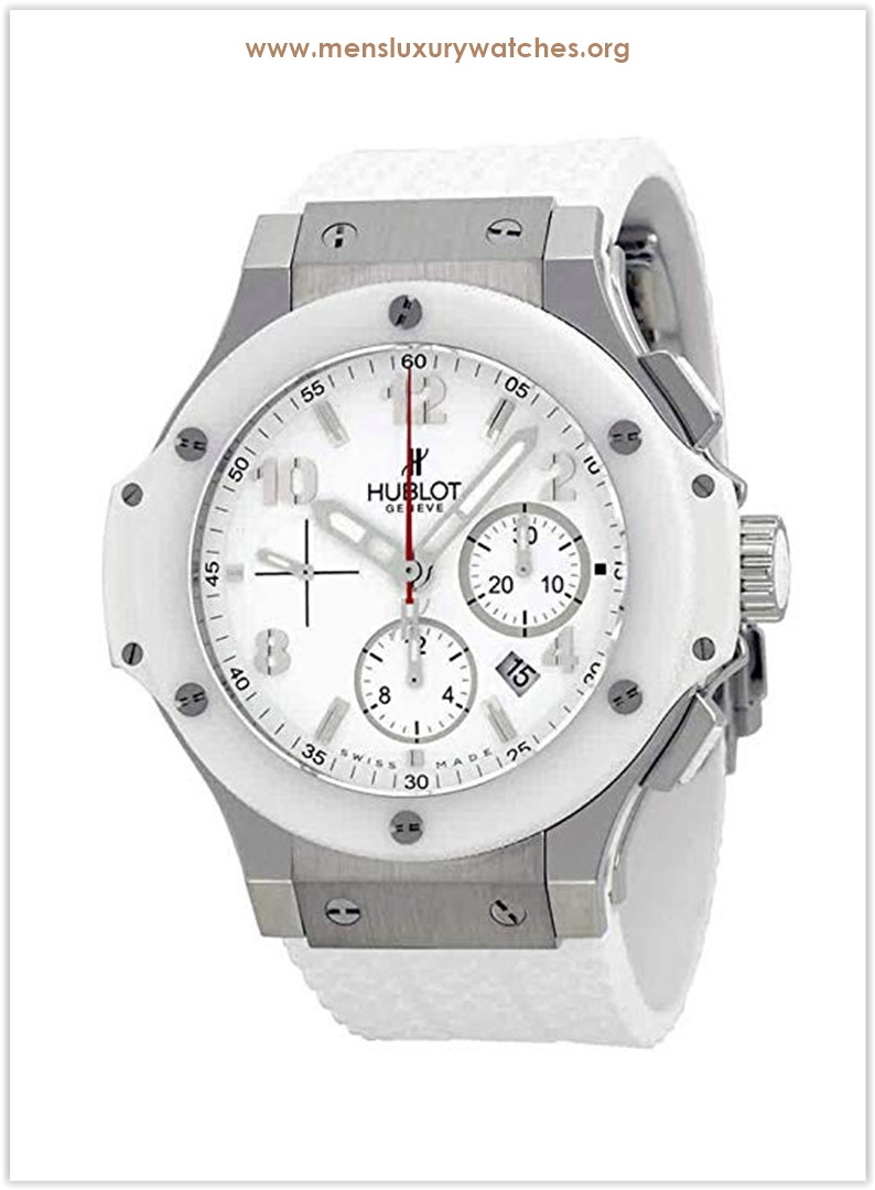 Hublot Big Bang St. Moritz Chronograph White Dial White Rubber Mens Watch Price