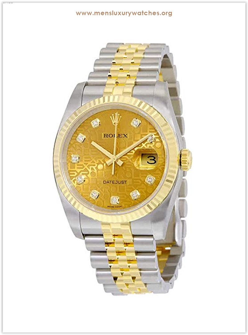 Rolex Datejust Automatic Champagne Dial Stainless Steel and 18kt Yellow Gold Men's Watch the best price