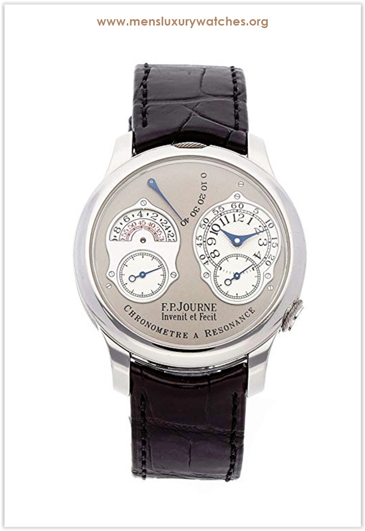F.P. Journe Chronometre Resonance Mechanical (Hand-Winding) Grey Dial Men's Watch Chronometer a Resonance Price