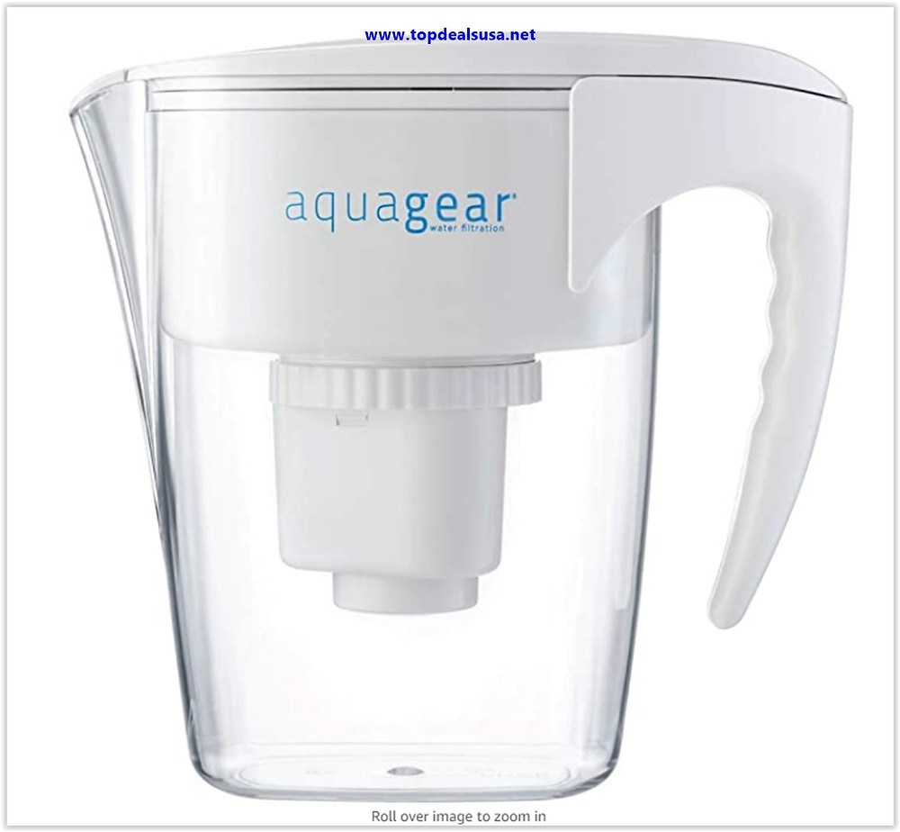 Best Buy Aquagear Water Filter Pitcher - Fluoride, Lead, Chloramine, Chromium-6 Filter - BPA-Free, Clear
