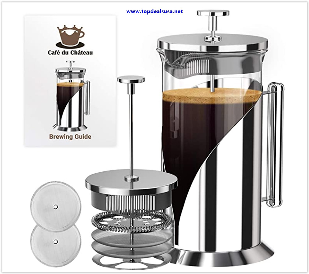 Cafe Du Chateau French Press Coffee Maker Deals & Review