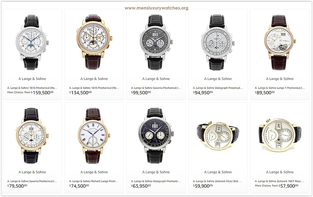 The prices of A.Lange & Söhne men's watches