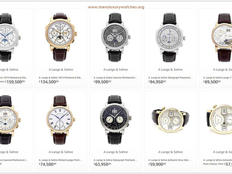 Luxury lifestyle advice: The prices of A. Lange & Söhne Men's Watches