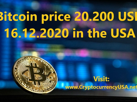 Bitcoin price 20.200 USD 16.12.2020 in the USA