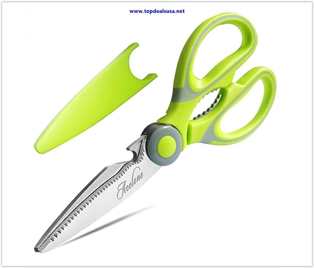 Acelone Premium Heavy Duty Shears Ultra Sharp Stainless Steel Multi-function Kitchen Scissors