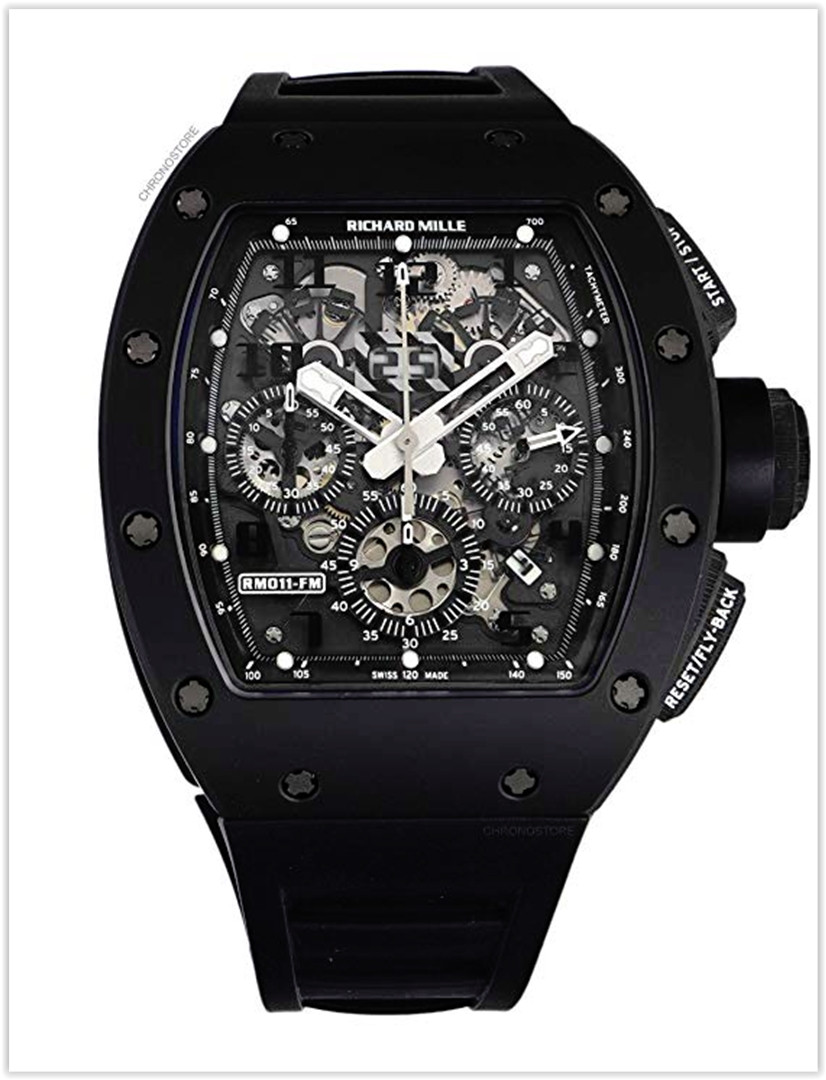 Richard Mille RM 011 Automatic-self-Wind Men's Watch Carbon rubber RM011 Price
