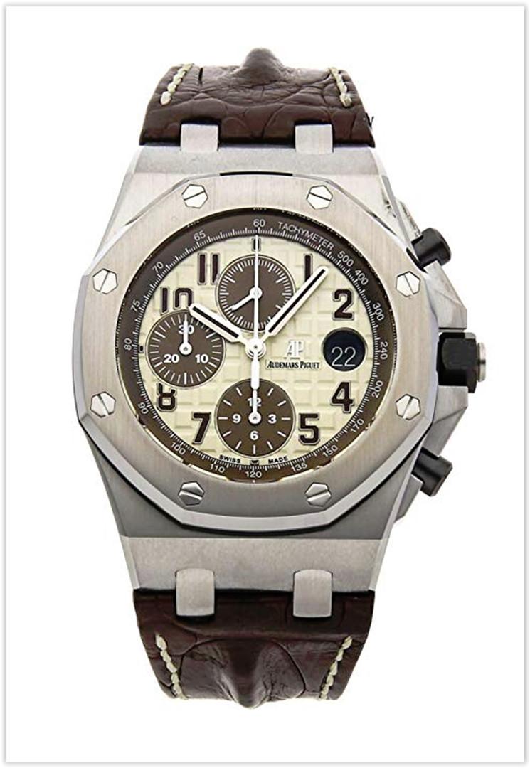 Audemars Piguet Royal Oak Offshore Mechanical (Automatic) Ivory Dial Men's Watch Price