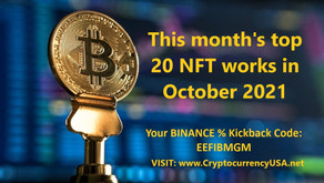 This month's top 20 NFT works in October 2021