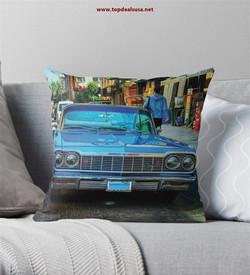 Amazing Old School Blue Chevrolet Throw